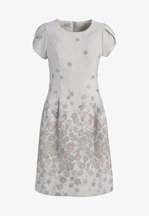Korte jurk - creme-metallic