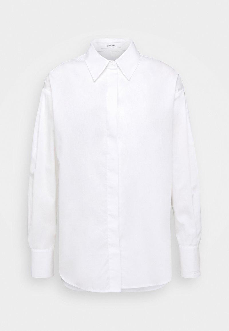 Opus - FANTISE - Button-down blouse - white