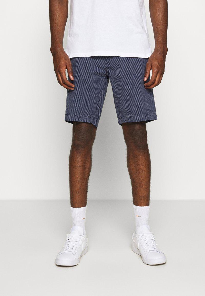 Burton Menswear London - SMART FINE STRIPE - Shorts - navy