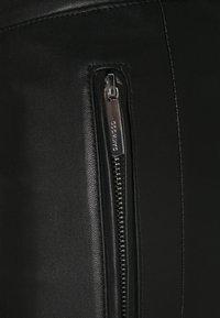 Oakwood - CELESTE - Kožené kalhoty - black - 2