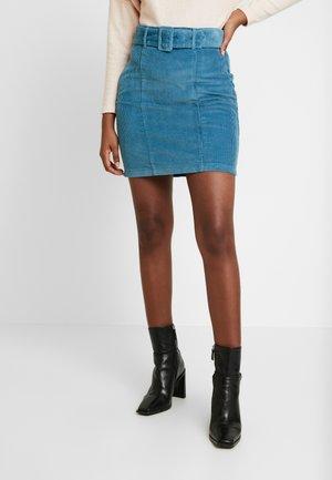 SELF BELT - A-line skirt - blue