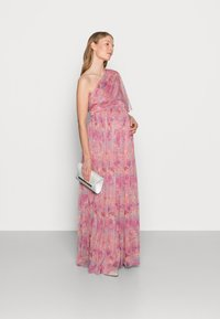 Anaya with love Maternity - ONE SHOULDER DRESS WITH FLUTTER SLEEVE - Vestido informal - pink - 1