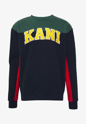 COLLEGE BLOCK CREW - Sweatshirt - navy/green/red/yellow/white