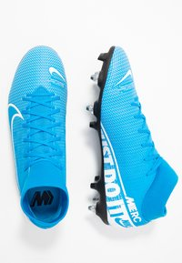 Nike Performance - MERCURIAL 7 ACADEMY SG-PRO AC - Screw-in stud football boots - blue hero/white/obsidian - 1