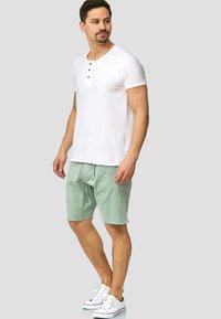 INDICODE JEANS - CARVER - Denim shorts - blue surf - 1