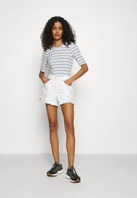 Abercrombie & Fitch - PRIDE CURVE LOVE MOM - Denim shorts - tie dye - 1