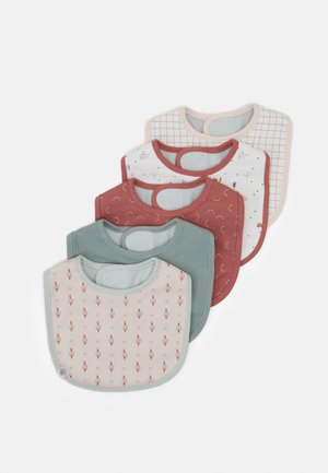 VALUE BIB ASSORTED GARDEN EXPLORER GIRL 5 PACK - Bib - red
