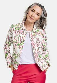 Gerry Weber - Denim jacket - weiß azalea palm druck - 0