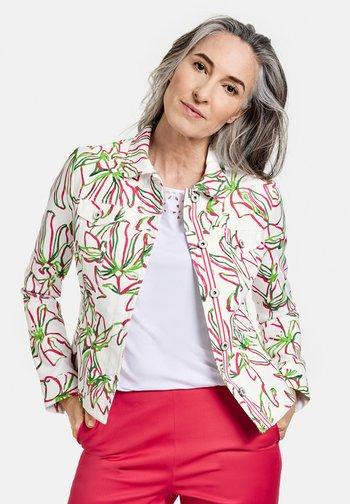 Denim jacket - weiß azalea palm druck