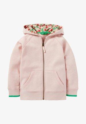 MIT BLUMENMUSTER - Zip-up hoodie - boto pink marl