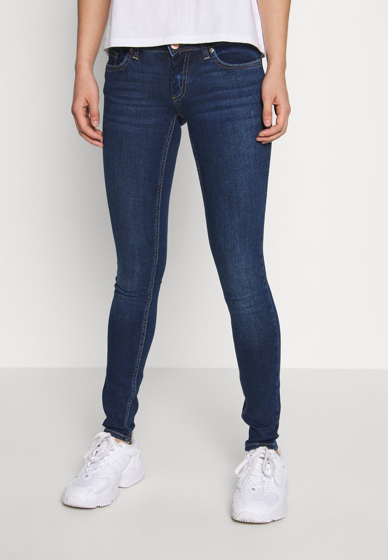 ONLY - Jeans Skinny Fit - dark blue denim
