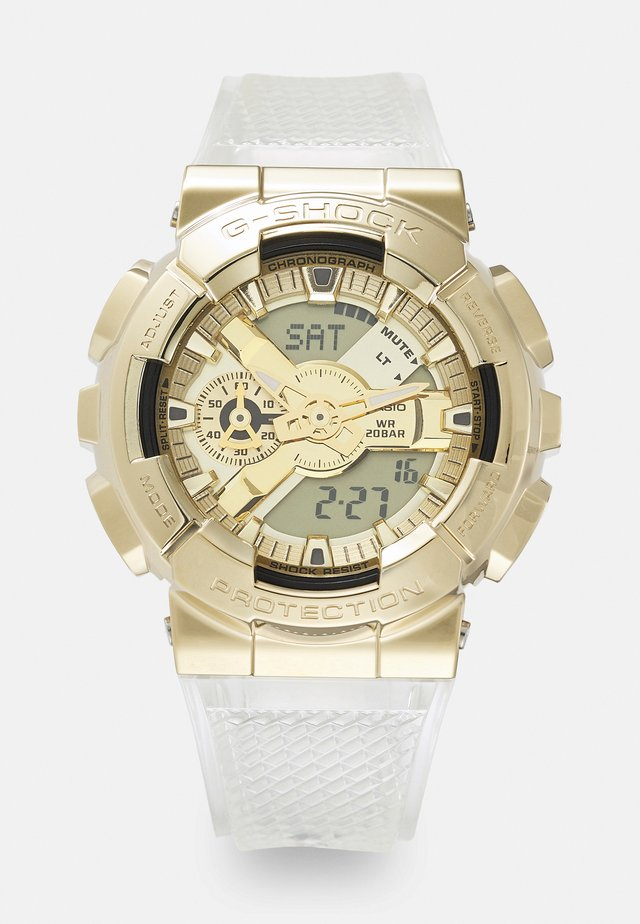 GOLD-INGOT TRANSPARENT GM-110SG UNISEX - Montre à affichage digital - gold-coloured/transparent