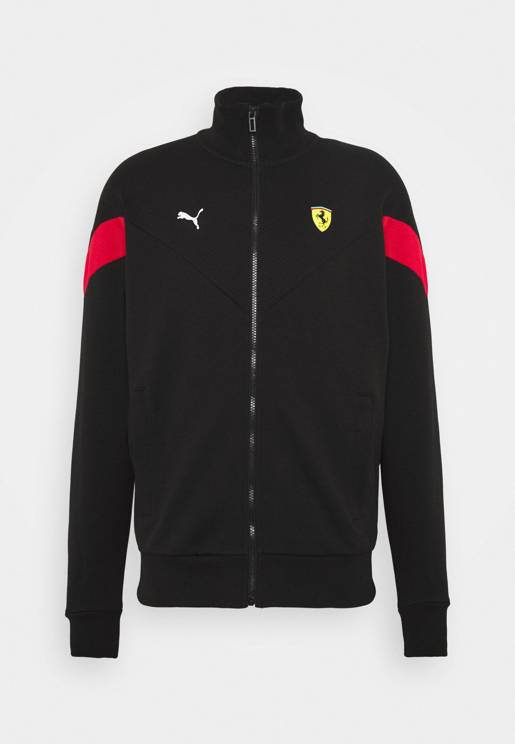 Puma Ferrari Race Trainingsjacke Black Schwarz Zalando De