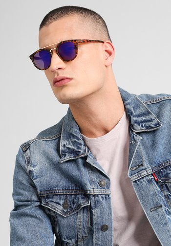 COPENHAGEN  - Sunglasses - turtle brown/blue mirror