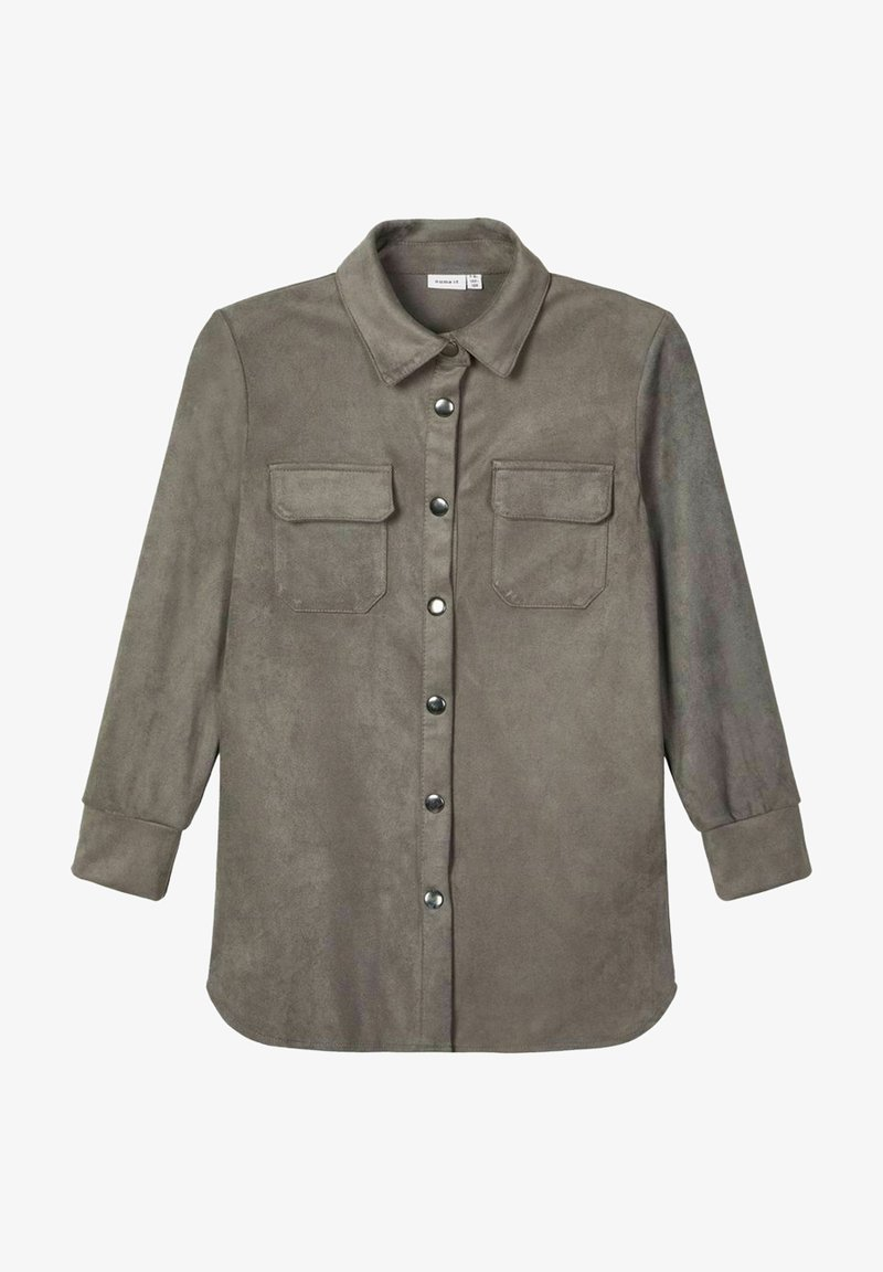 Name it - Button-down blouse - granite grey