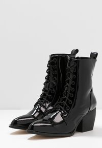co wren wide fit - Lace-up ankle boots - black - 4