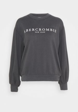 LOGO PUFF SLEEVE CREW - Sweatshirt - black