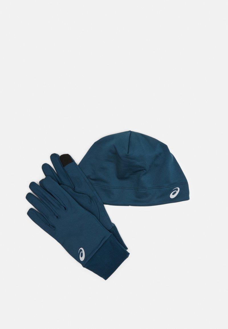 ASICS - RUNNING PACK SET UNISEX - Fingerhandschuh - magnetic blue