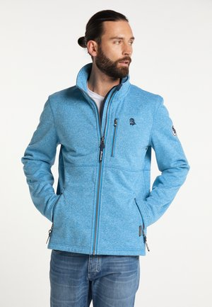 Zip-up sweatshirt - blau melange