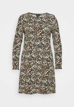 FLORAL PUFF SLEEVE FIT & FLARE DRESS - Sukienka z dżerseju - multi
