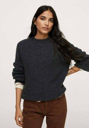 PUNTO OVERSIZE - Stickad tröja - dark heather grey