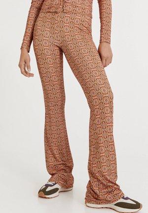 RETROPRINT - Trousers - mottled beige