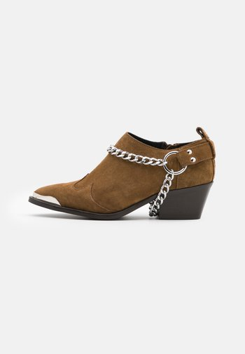 Ankle boots - biscuit