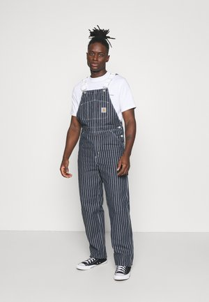 TRADE OVERALL - Jeans Relaxed Fit - dark navy/wax rinsed