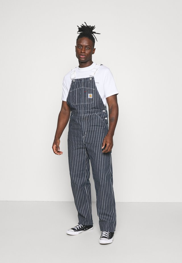 TRADE OVERALL - Relaxed fit jeans - dark navy/wax rinsed