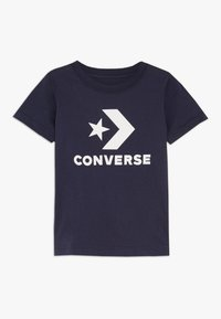 Converse - STACKED WORDMARK GRAPHIC TEE - Print T-shirt - obsidian - 0