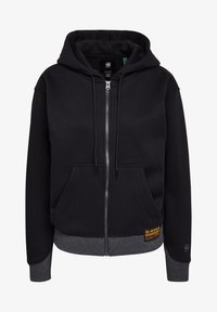 G-Star - PREMIUM CORE HOODED ZIP THRU LONG SLEEVE - Mikina na zip - dk black - 4