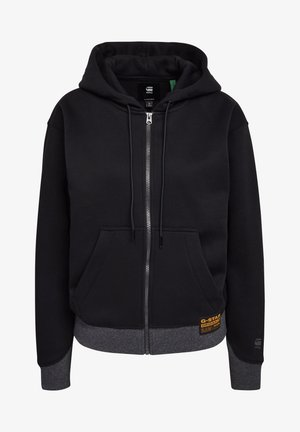 PREMIUM CORE HOODED ZIP THRU LONG SLEEVE - Mikina na zip - dk black