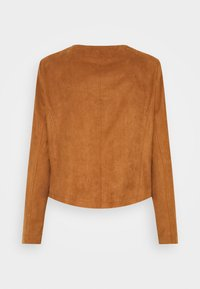 s.Oliver BLACK LABEL - Faux leather jacket - peanut bro - 1