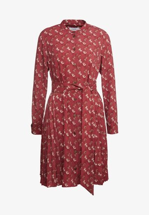 HORSE AND CARRIAGE SHIRT DRESS - Košilové šaty - red
