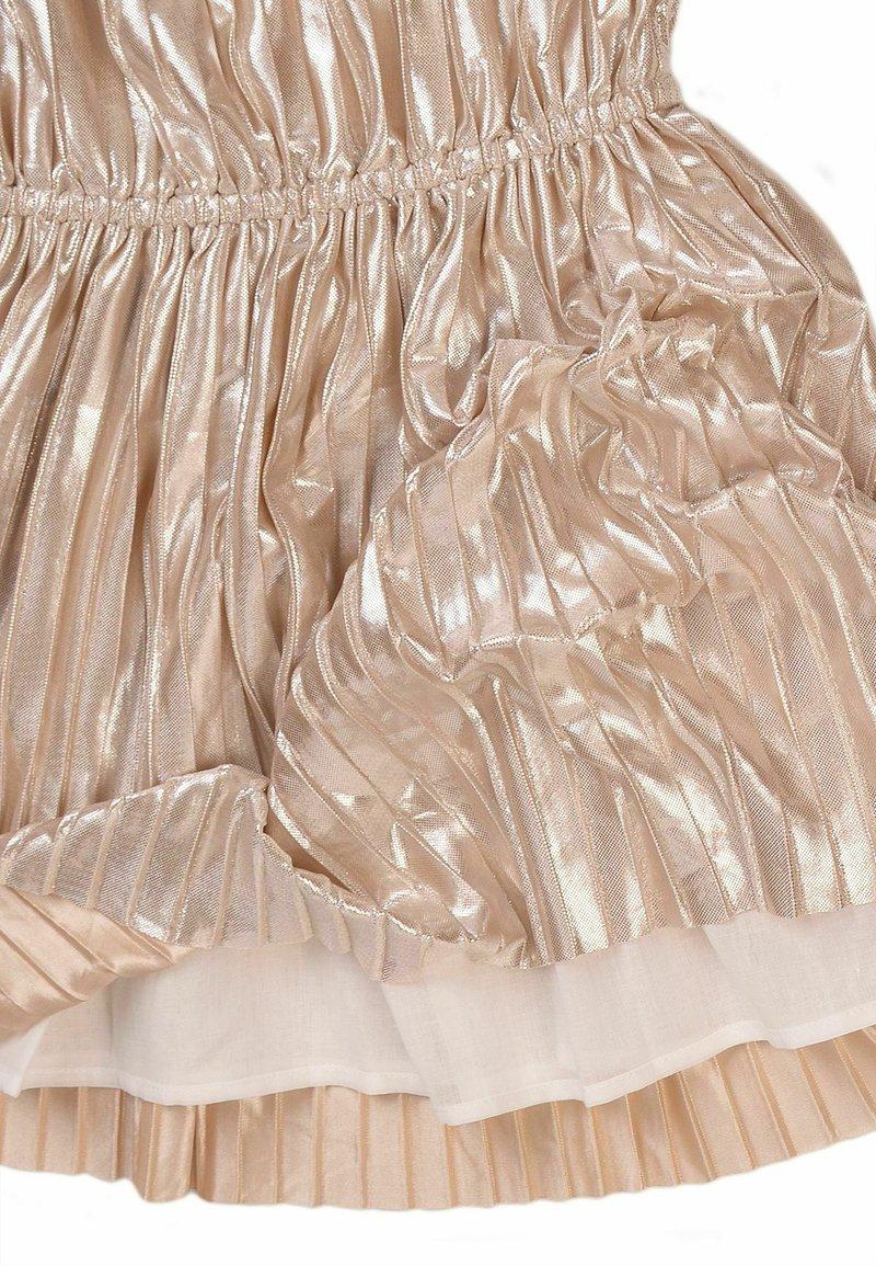 MINOTI - METALIC ELASTICED WAISTBAND  - Cocktail dress / Party dress - gold