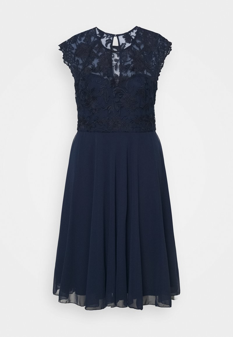 Chi Chi London Curvy - HELENE DRESS - Cocktail dress / Party dress - navy