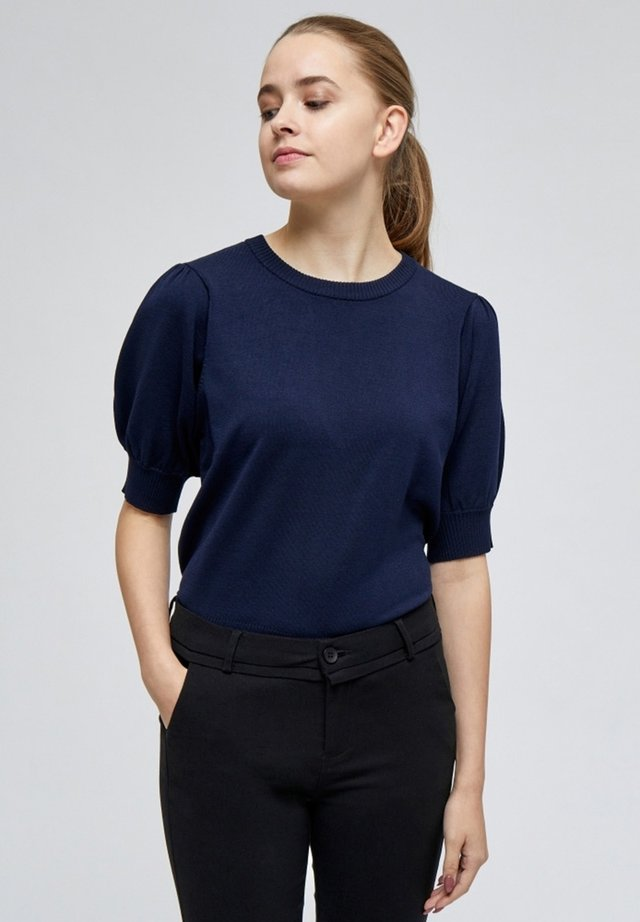LIVA - T-shirt - bas - black iris solid