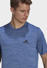 adidas Performance - M HT EL TEE - T-shirt z nadrukiem - blue - 4