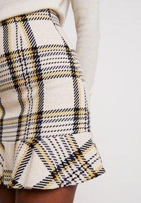 EDITED - EBBA SKIRT - Mini skirt - cream/navy - 4