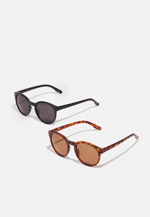 2 PACK - Gafas de sol - black/brown