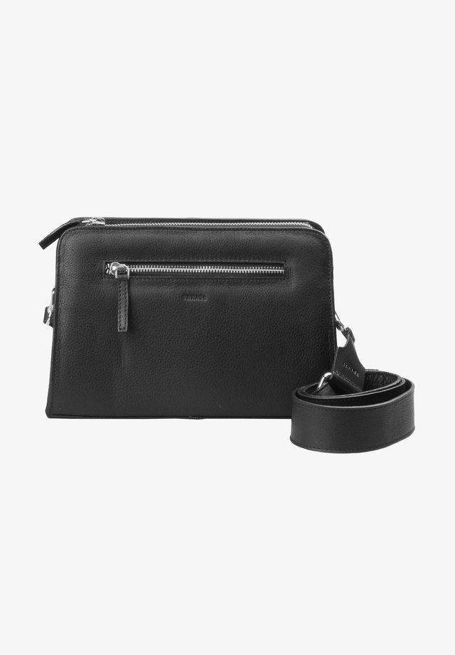 Across body bag - black silver