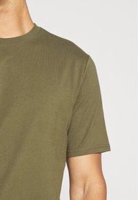 Weekday - FRANK - T-shirt - bas - khaki green - 5