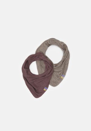 SCARF 2 PACK - Scarf - berry/mottled light brown