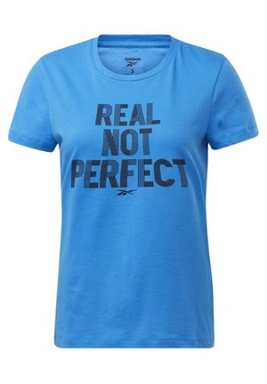 TRAINING ESSENTIALS GRAPHIC T-SHIRT - T-Shirt print - blue