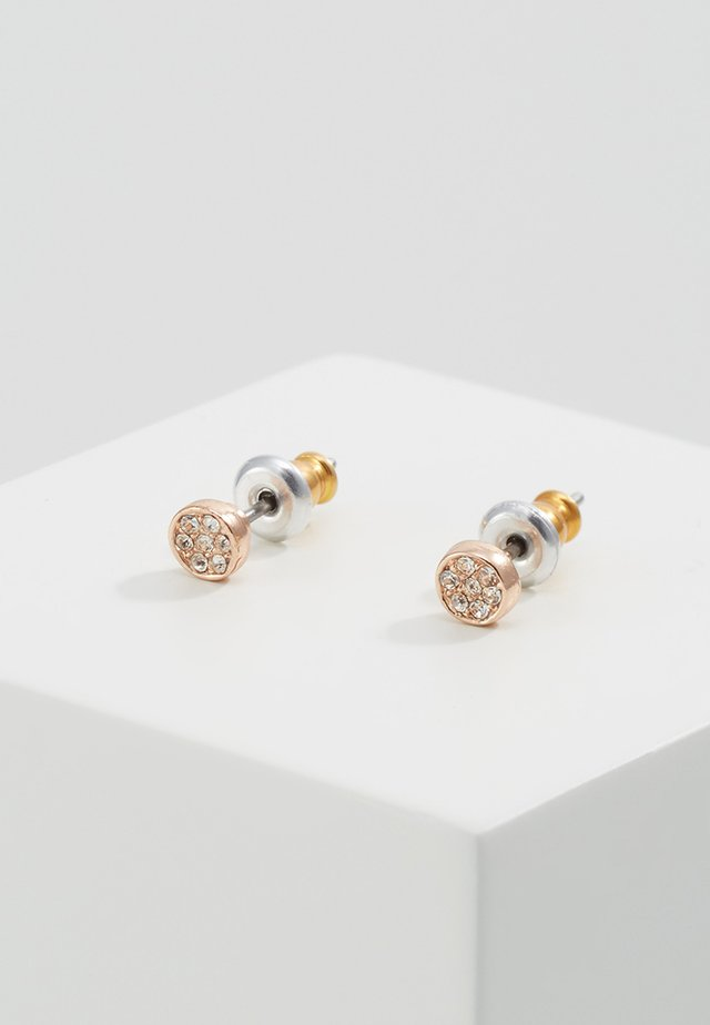 Earrings - rose gold-coloures/crystal