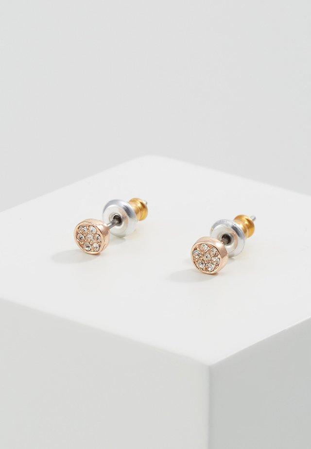 Kolczyki - rose gold-coloures/crystal