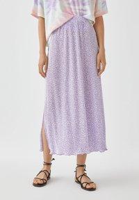PULL&BEAR - A-snit nederdel/ A-formede nederdele - purple - 0