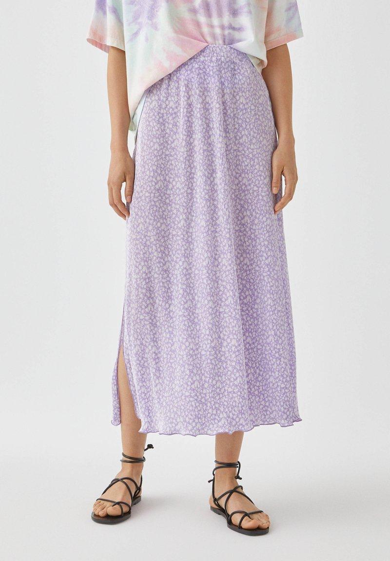 PULL&BEAR - A-snit nederdel/ A-formede nederdele - purple