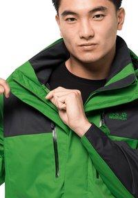 Jack Wolfskin - JASPER FLEX  - Hardshell jacket - basil green - 4