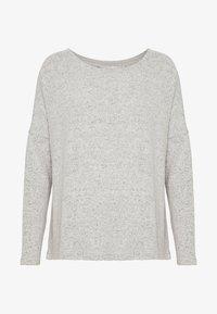 ONLY - ONLMAYE O-NECK - Strikkegenser - light grey melange/black melange - 4